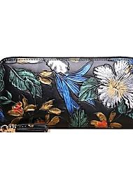 cheap -Women's Bags Cowhide Wallet Zipper for Formal Office & Career All Seasons Rainbow