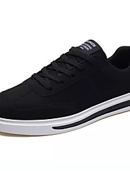 Homens sapatos Tecido Primavera Outono Solados com Luzes Tênis para Casual Preto Cinzento Branco/Preto