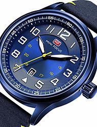 baratos -MINI FOCUS Homens Relógio Esportivo Japanês Calendário / Noctilucente / Relógio Casual Náilon Banda Casual / Fashion Preta / Azul / Marrom / Mostrador Grande