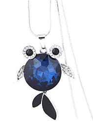 cheap -Women's Fish Rhinestone Pendant Necklace  -  Fashion European Dark Blue Gray Necklace For Party