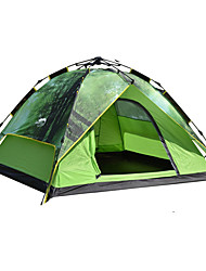 baratos -DesertFox® 4 pessoas Tenda Automática / Barracas de Acampar Leves Dupla Camada Automático Dome Barraca de acampamento Ao ar livre Prova-de-Água, Á Prova-de-Chuva para Campismo 2000-3000 mm Oxford