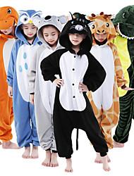 preiswerte -Kigurumi-Pyjamas Giraffe Pyjamas-Einteiler Kostüm Flanell Vlies Orange Grau Braun Grün Blau Cosplay Für Kinder Tiernachtwäsche Karikatur