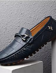 cheap -Men's Shoes Pigskin Spring / Fall Moccasin Loafers & Slip-Ons Walking Shoes Black / Orange / Navy Blue / Tassel