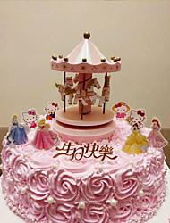 baratos -Decorações de Bolo Tema Fadas Fantasia Aniversário Amigos Família Casamento Animais Resina ABS Casamento Aniversário com Estrela Riscas 1
