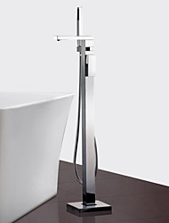 cheap -Contemporary Floor Mounted Floor Standing Ceramic Valve One Hole Single Handle One Hole Chrome, Bathtub Faucet