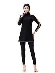 abordables -Femme Grandes Tailles Basique Burkini Rayé