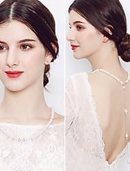 abordables -Femme Chaîne de Corps Perle imitée Imitation de perle Classique Rétro Elégant Bijoux de Corps Pour Mariage Soirée Bijoux de fantaisie