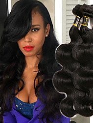 cheap -Indian Hair Body Wave Human Hair Weaves 3pcs 0.3