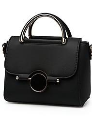 cheap -Women's Bags PU Shoulder Bag Zipper for Casual Office & Career All Seasons Purple Fuchsia Light Purple Light Grey Khaki