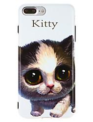 Capinha Para Apple iPhone X iPhone 8 IMD Estampada Capa traseira Gato Macia TPU para iPhone X iPhone 8 Plus iPhone 8 iPhone 7 Plus iPhone