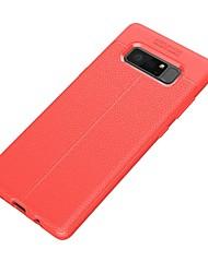 Недорогие -Кейс для Назначение SSamsung Galaxy Note 8 Ультратонкий Кейс на заднюю панель Сплошной цвет Мягкий ТПУ для Note 8