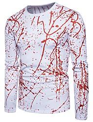 Majica s rukavima Muškarci - Vintage pretjeran Jednobojni Na točkice Prugasti uzorak Print