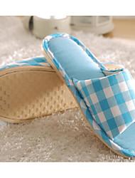 baratos -Unisexo Sapatos Linho Primavera Outono Conforto Chinelos e flip-flops Salto Baixo para Cinzento Fúcsia Café Rosa claro Azul Claro