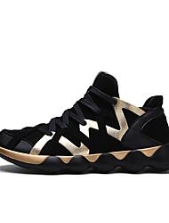 abordables -Homme Chaussures Polyuréthane Automne Confort Chaussures d'Athlétisme pour Athlétique Décontracté Noir Noir et Or Noir/blanc