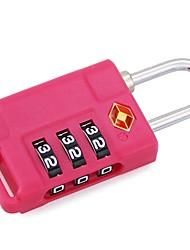 Недорогие -механический код блокировка путешествие за границей таможенный код блокировка багажная коробка три булавка навесной замок tsa21037