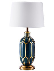 cheap -Artistic Decorative Table Lamp For Bedroom Metal Blue