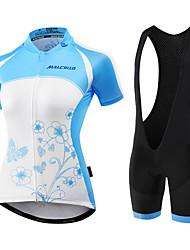 Недорогие -Malciklo Велокофты и велошорты Жен. Короткие рукава Велоспорт Биб Колготки Джерси Шорты с защитой Наборы одеждыАнатомический дизайн