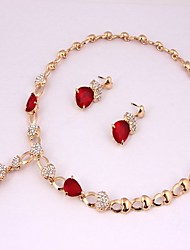 cheap -Women's Jewelry Set - Gold Plated Classic, Fashion Include Bridal Jewelry Sets Dark Red For Wedding / Party