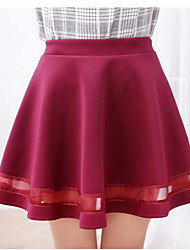 cheap -Women's Normal Daily Short / Mini Skirts, Simple A Line Cotton Solid Summer