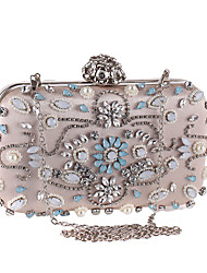 cheap -Bags Polyester Evening Bag Crystals for Wedding / Event / Party Black / Almond