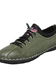 Muškarci Cipele Svinjska koža Proljeće Jesen Svjetleće tenisice Sneakers za Kauzalni Crn Zelen Žutomrk