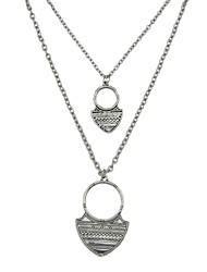 Недорогие -Жен. Слоистые ожерелья длинное ожерелье обернуть ожерелье Дамы Простой Классический Золотой Серебряный Ожерелье Бижутерия 2 Назначение Повседневные Новый год