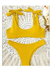 abordables -Femme Licou Bikinis - Dos Nu, Couleur unie