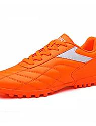 Herre Sko PU Forår Efterår Lysende såler Sportssko Fodbold for Atletisk Sort Orange Gul Rød Blå