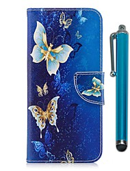 cheap -Case For Motorola MOTO G5 Plus MOTO G5 Card Holder Wallet with Stand Flip Magnetic Full Body Cases Butterfly Hard PU Leather for Moto G5s
