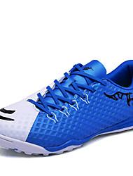 baratos -Homens sapatos Couro Ecológico Primavera / Outono Conforto Tênis Futebol Laranja / Azul / Verde Claro