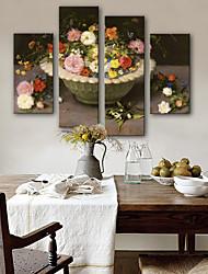 Недорогие -Холст для печати Modern, 4 панели холст Вертикальная С картинкой Декор стены Украшение дома