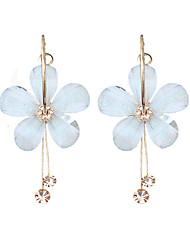 preiswerte -Damen Tropfen-Ohrringe - Blume Modisch Weiß Für Party