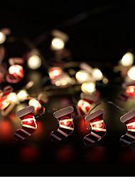 cheap -100cm String Lights 10 LEDs 1M String Light Warm White 1 set