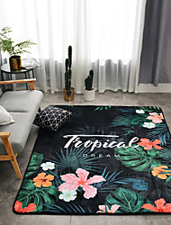 cheap -Area Rugs Modern Bonded / Flannelette, Flat Shape / Rectangular Superior Quality Rug / Latex Non Skid
