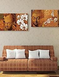 abordables -Toile Moderne, Deux Panneaux Toile Format Vertical Format Horizontal Imprimé Décoration murale Décoration d'intérieur
