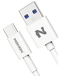 abordables -Tipo C Adaptador de cable USB Carga rapida Cable Para Samsung Huawei LG Nokia Lenovo Motorola Xiaomi HTC 100 cm CLORURO DE POLIVINILO
