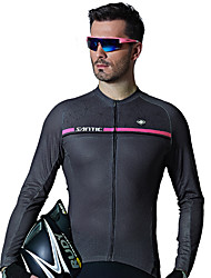 economico -SANTIC Per uomo Manica lunga Maglia da ciclismo - Grigio / Perle Bicicletta Maglietta / Maglia