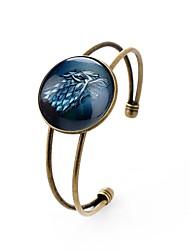 Недорогие -Все 1шт Браслет разомкнутое кольцо - металлический Секси Круглый Цвет радуги Браслеты Назначение Валентин Новый год
