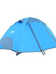 baratos -DesertFox® 2 Pessoas Tenda Dupla Camada Barraca de acampamento Ao ar livre Tenda Dobrada Prova-de-Água / Á Prova-de-Chuva para Campismo