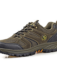 Herre Sko Tyl Forår Efterår Komfort Sneakers Gang Snøring for Afslappet Brun Grå Army Grøn