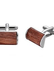 cheap -Geometric Brown Cufflinks Stainless Steel Fashion Gift Work Men's Costume Jewelry