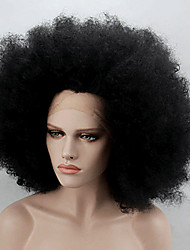 cheap -Synthetic Lace Front Wig Kinky Curly Afro Heat Resistant Natural Hairline Women's Lace Front Carnival Wig Halloween Wig Medium Synthetic