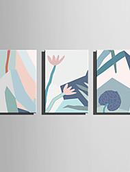 Недорогие -Отпечатки на холсте Modern, 3 панели холст Вертикальная С картинкой Декор стены Украшение дома
