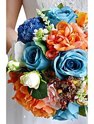 abordables -Fleurs de mariage Bouquets Mariage Gros-grain 17cm