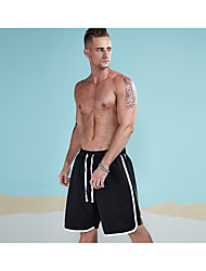 cheap -Men's Simple Active Cotton Shorts Chinos Pants - Solid Colored Striped