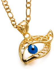 cheap -Men's / Women's Pendant Necklace - Gold Plated Evil Eye Fashion Gold Necklace One-piece Suit For Birthday, Gift