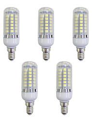 preiswerte -5 Stück 5W 420 lm E12/E14 LED Mais-Birnen 48 Leds SMD 5050 LED-Lampe Weiß Wechselstrom 220-240V