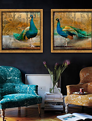 cheap -Landscape Animals Illustration Wall Art,Plastic Material With Frame For Home Decoration Frame Art Living Room Indoor