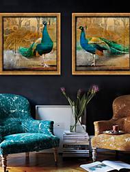 baratos -Paisagem Animais Ilustração Arte de Parede,Plástico Material com frame For Decoração para casa Arte Emoldurada Sala de Estar Interior