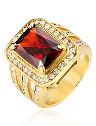 cheap -Men's Statement Ring - 7 / 8 / 9 White / Red / Champagne For Party / Evening Party